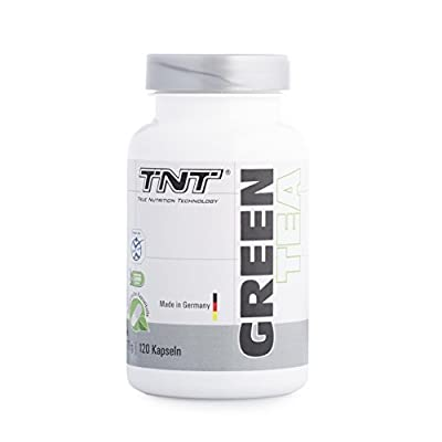 TNT Green Tea | Pleasantly Relaxed Focus, Concentration, Alertness and Energy | With Green Tea Extract and L-Theanine | 120 capsules by MBS Sports GmbH