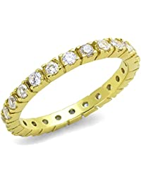 ISADY - Brittany Gold - Women's Ring - Eternity - Cubic Zirconia
