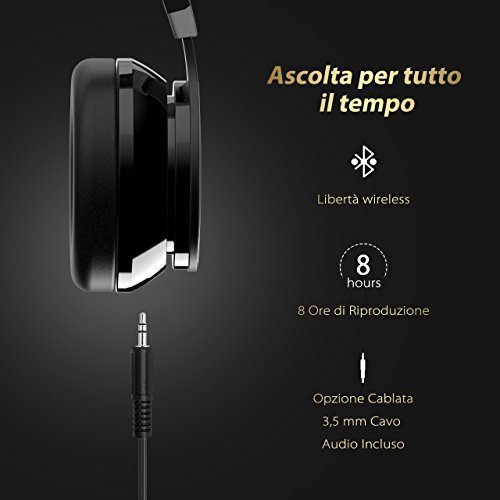 Recensione Bluetooth Cuffie Stereo OMorc Waver Wireless Headphones ... 53d31af23366