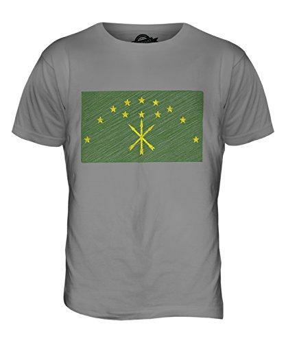 CandyMix Adygeja Kritzelte Flagge Herren T Shirt Hellgrau
