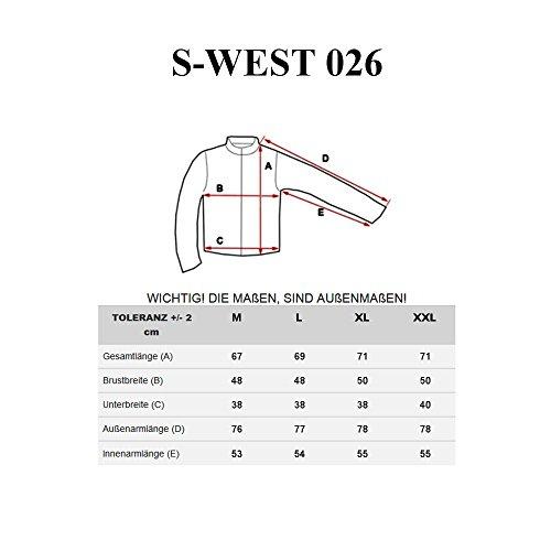 BOLF Strick Jacke Herrenpullover Streifen Hoodie Sweater Mix 1A1 Pulli Grau_026