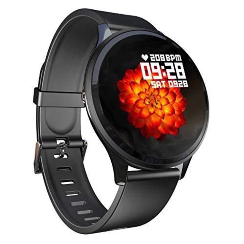iCerber Smartwatch Wasserdicht IP67 Smart Watch Uhr mit Pulsmesser Fitness Tracker Intelligente Armbanduhr mit Schlaf-Monitor SMS Benachrichtigung Push kompatibel für Android und iOS
