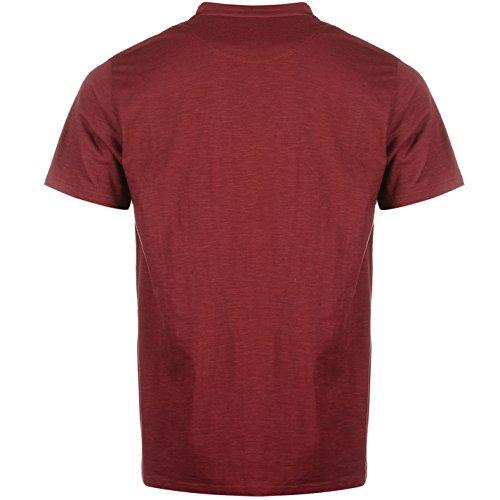 Pierre Cardin Herren St Appliq T Shirt Gestreift Kurzarm Rundhals Burgund/Anthrazit Streifen