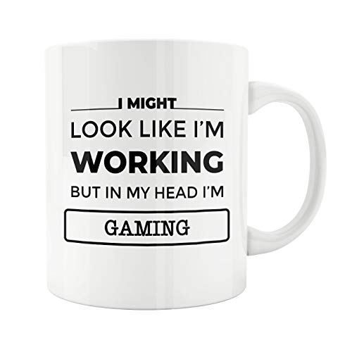 Lplpol Ceramic Tea Cup, Gift for Gaming Lover, Gamer, Game Gift, Gaming Lover, Birthday Present, Ceramic Mug, Cute Mug, Gaming, Gift for Gamer, Gift for Her, 15 Oz Mug