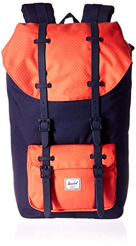 Little America Backpack peacoat hot coral peacoat rubber