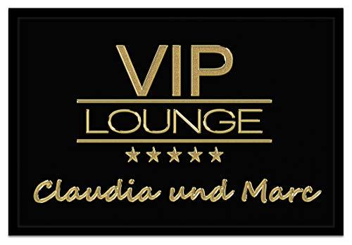 Creativgravur® Individuell bedruckte Fußmatte - VIP Lounge - edel und exklusiv, Größe der Fußmatte:40 x 60 cm
