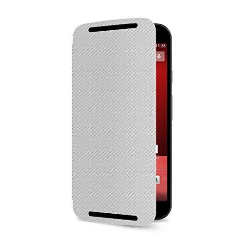 YGS Flip Case Cover For, Moto G 2nd Gen XT1068 white