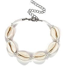 Cavigliera Bracciale Conchiglie Ciprea C.oro Cordino Regolabile Donna Anklets Fashion Jewelry