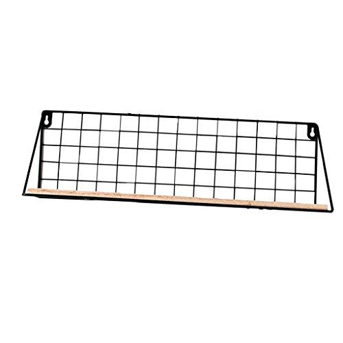 Moderne Gitter (F Fityle Moderne Gitter Wandregal 45 cm mit Holz Ablage - Hängeregal Bad Regal Küchenregal)