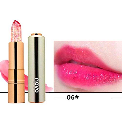 Rouge à lèvres, Honestyi Grosses soldes Baume hydratant à la gelée pour les lèvres Rouge à lèvres de décoloration (06#)