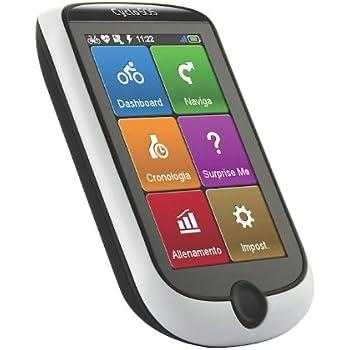 Mio Cyclo 505 HC Wasserfestes Fahrrad GPS Navigationsgerät mit Kadenz-/Geschwindigkeitssensor, Herzfrequenzgurt, WLAN/WiFi sowie Bluetooth-Funktion, ANT+ Sensor und Workout-Programm Kompatibel mit Karten für Westeuropa