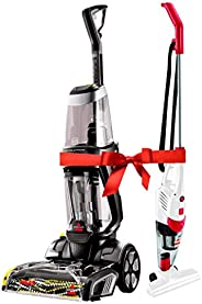 Bissell Proheat 2X Revolution Deep cleaner+ Featherweight 2in1 Upright Vacuum Bundle
