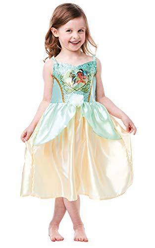 Rubie's Offizielles Tiana-Kostüm, Disney-Prinzessinnen-Prinzessinnen-Prinzessinnen-Pailletten-Kostüm, Kindergröße 2-3 Jahre, Höhe 98 cm