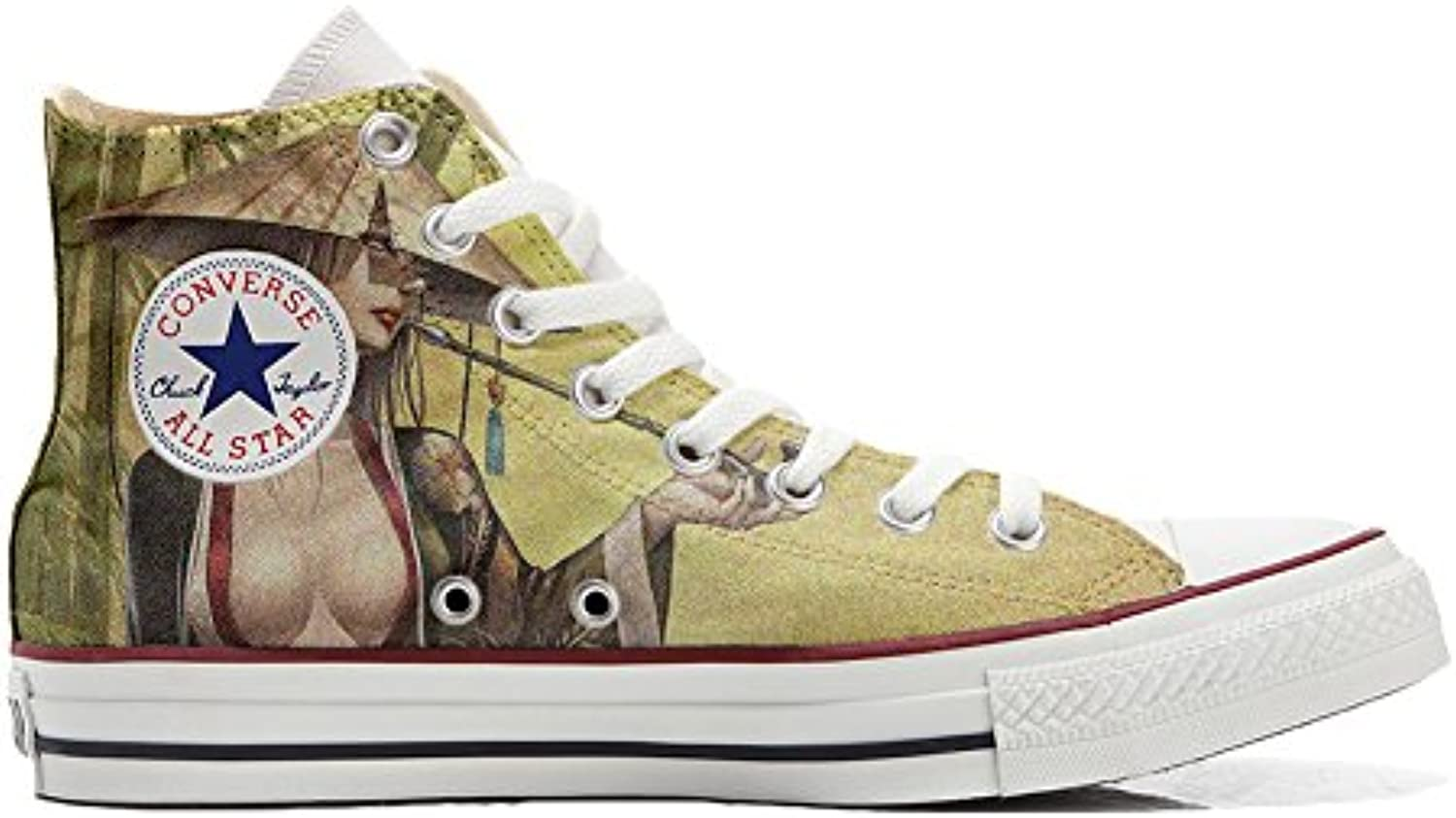 Converse All Star Customized - Zapatos Personalizados (Producto Artesano) Geisha Style  -
