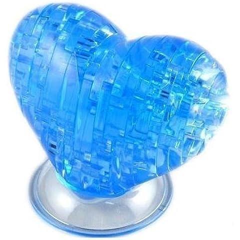 PicknBuy® Puzzle 3D cristallo blu cuore Jigsaw Puzzle IQ giocattolo modello decorazione