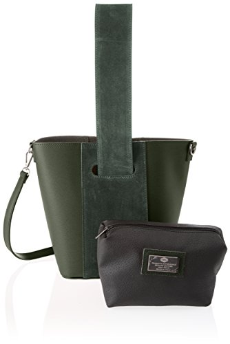 Chicca Borse Damen 8886 Schultertasche, 31x26x16 Cm Verde (verde)