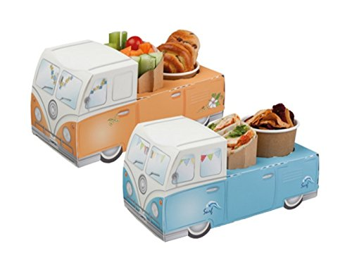 5-Fun-Retro-Camper-Van-Car-Party-Food-Trays-Snack-Lunch-Meal-Box-Plate-Tray