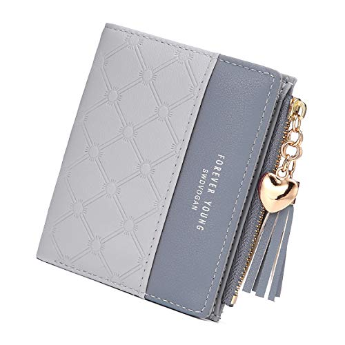 94d53be018ccb JOSEKO Tassel PU Multi-Ranuras de Cuero pequeña Billetera Slim Card Holder  Purse para Mujeres