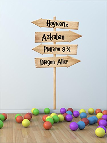Hogwarts Harry Potter película lugares Sign Post