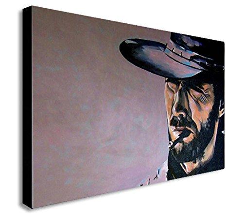 FAB CLINT EASTWOOD The Good The Bad und The Ugly-Gerahmter Leinwand Kunstdruck verschiedene Größen, A1 32x24 inches (Clint Eastwood Leinwand)