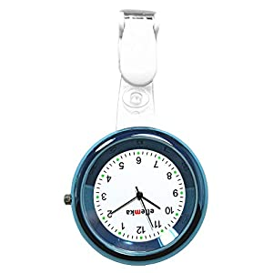 Ellemka – Krankenschwestern Pfleger Chefs   Analoge Ansteckuhr Taschenuhr   Digitales Quarzuhrwerk   Hängeband aus ABS Plastik mit Clip   JCM-2103 Elle – Blue Hellblau