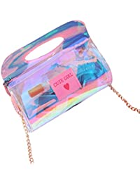 Tinksky Hologram Clutch Purse Wallet Handbag Crossbody Bag Holographic Leather Evening Clutch Bag For Women With...