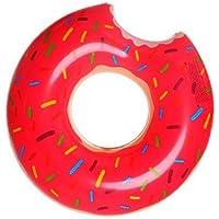 ZHANGJIANJUN Donut Gigante Inflable Piscina de Adultos Piscina hilera Flotante Anillo Toy con Bomba de Agua de Piscina Juego Flotar Juguetes para Adultos 50-120cm,Pink 50cm.