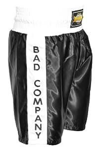 KURZE HOSE Olympic Wettkampf Satin Boxer Shorts schwarz / weiß - Boxerhose aus 100 % Polyester, L