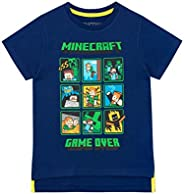 Minecraft Camiseta de Manga Corta para niños Creeper and Steve