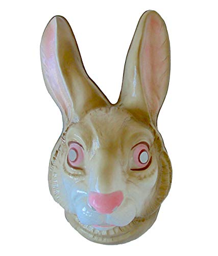 Festartikel Müller Hasenmaske für Erwachsene, Ostern Bunny Kaninchen Hase Party Kostüm Maskierung