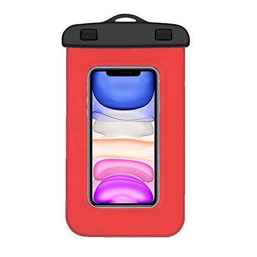 Milabella Funda Impermeable Xiaomi Redmi Note 7 Certificado IPX8 Bolsa para Xiaomi Redmi Note 7 Funda acuatica Xiaomi Redmi Note 7 Funda Sumergible Redmi Note 7 Waterproof Case Redmi Note 7 (Roja)