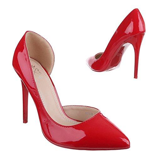 Ital-Design - Scarpe con Tacco Donna , Rosso (rosso), 36 EU