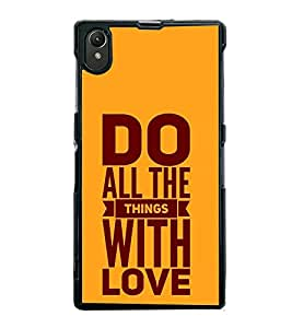 Fiobs Designer Back Case Cover for Sony Xperia Z1 :: Sony Xperia Z1 L39h :: Sony Xperia Z1 C6902/L39h :: Sony Xperia Z1 C6903 :: Sony Xperia Z1 C6906 :: Sony Xperia Z1 C6943 (God Bhagvan Temple Dress Sports Typography Spritual)