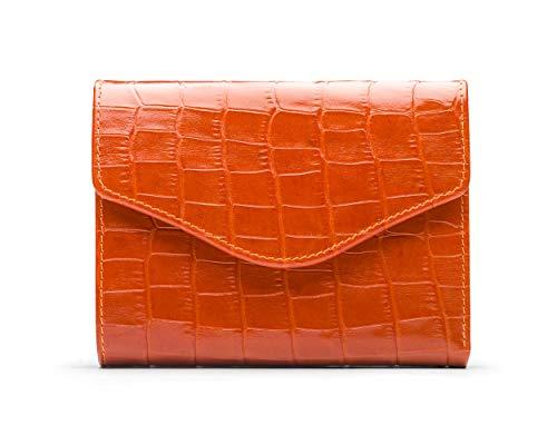 SageBrown Orange Croc Anita Purse - Co Womens Stud