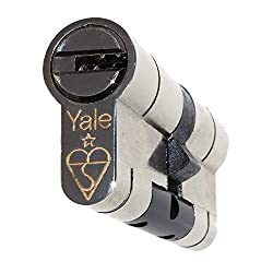 40/45 Nickel YALE Superior Euro Cylinder with 3 Keys Anti Snap/Bump / Pick/Drill / Pull High Security uPVC Composite Door Barrel Profile Lock