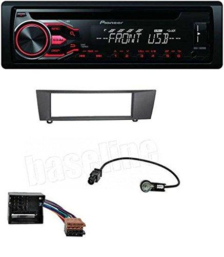 Pioneer Autoradio CD MP3 USB AUX pour BMW Série 1 E87 3 E90 E91 E92 E93 x1 E84 Z4 E89