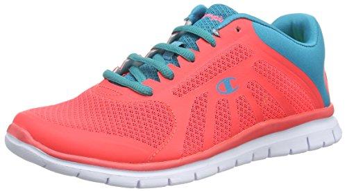 Senhoras Campeão Corte Baixo Alfa Tênis De Corrida Sapatos Cor De Rosa (coralina Rosa / Azul 3334)