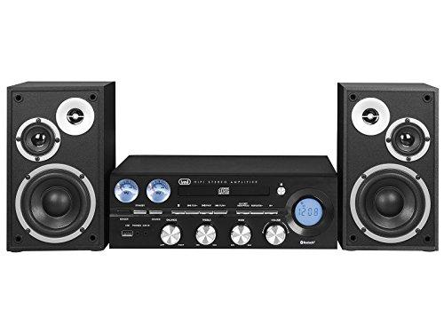 Trevi HF 1900 BT Minicadena de música para Uso doméstico Negro - Microcadena (Minicadena de música para Uso doméstico, Negro, Monótono, 1 Cubierta(s), 1 Discos, FM)