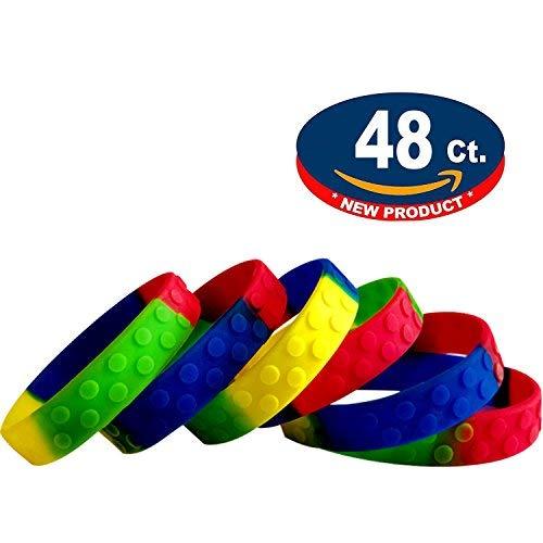 48 Stück Kinder Armbänder Silikon für Kinder Geburtstag Party Geschenk Mitgebsel