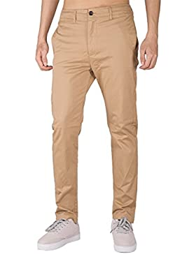 THE AWOKEN Hombre Chino Casual Pantalón Business Wear Slim Fit