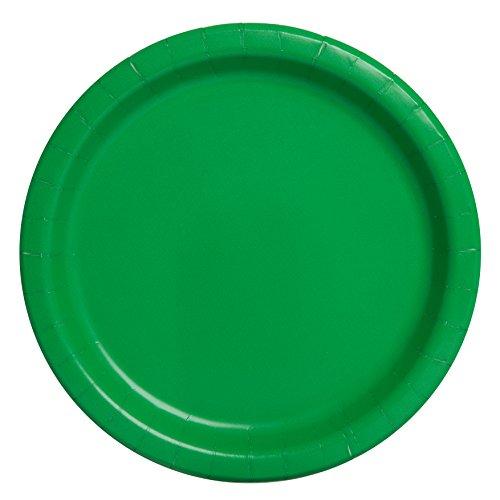 Unique Party 21.9cm Party Teller, 16er Pack, Emerald Green