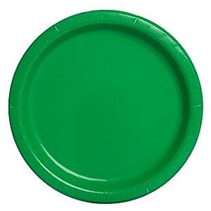 Unique Party -  Platos de Papel - 23 cm - Verde Esmeralda - Paquete de 16 (31850)