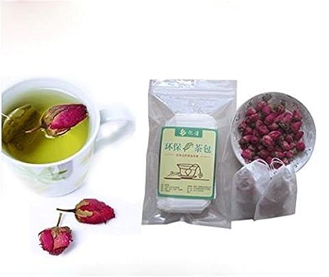 Ardisle 100 Sachets à Thé Vides Chaîne Sceau Thermique Papier Filtre Herb Sacs à Thé Loose Sac à Thé