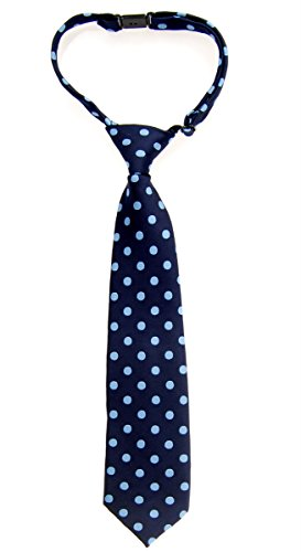 Retreez–lunares Tejido microfibra PRE-TIED Boy de corbata–varios colores Azul Navy Blue with Light Blue Dots 24 Meses - 4 Años