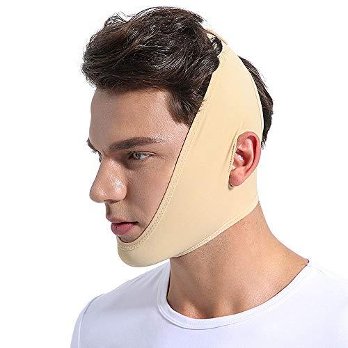 Wenhu Gesichtsdünne Gesichtsmaske, die Verband-Haut-Obacht-Gurt-Form-Aufzug abnimmt, verringern das doppelte Kinn-Gesichtsmasken-Gesicht, das dünner für Männer Frauen ausdünnt,M