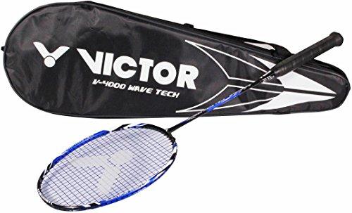 VICTOR Badmintonschläger V 4000 Wave Tec, Schwarz/Blau, 67.4 cm, 118/0/0