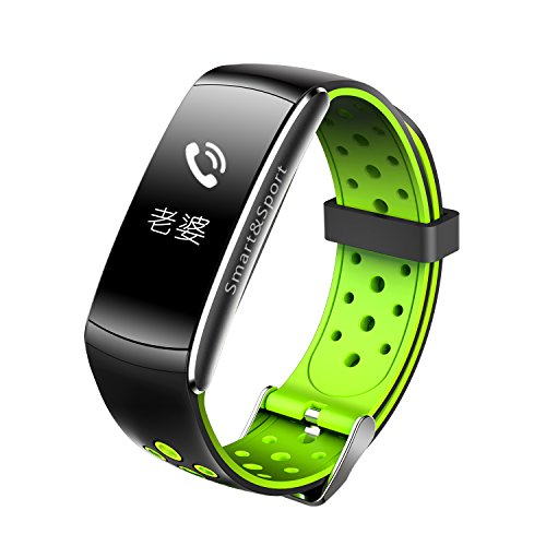 Smart Armband Dynamische Herzfrequenz Monitor IP68Armband Fitness Tracker mit Fotografieren, Smart Band mit finden Telefon für iOS Android (rot) (Datum Für Halloween-nacht)