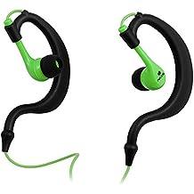 """NGS Green Triton - Auriculares (Binaurale, Negro, Verde, gancho de oreja, Alámbrico, 3.5 mm (1/8""""), 1,2m)"""