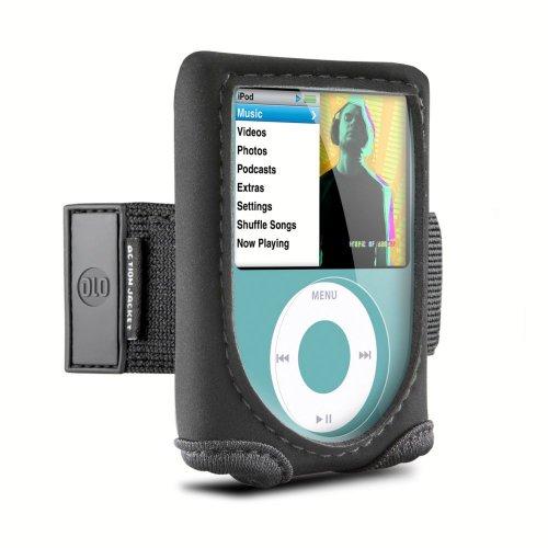 10 Neopren-Tasche für iPod Nano 3G (Armband, Sichtfenster und 180° drehbaren Gürtel-Clip) schwarz (Ipod Nano Sport Clip)