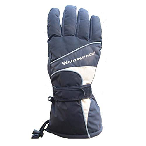 Heated gloves Batteriegehärtete Handschuhe 7,4V wiederaufladbare Winterwarm-Handschuhe wasserdicht Isolierhaufwärmer für Outdoor Cycling, Motorrad, Wandern, Snowboarden für Männer Frauen,Gray